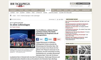 Presse-Echo Tagesspiegel